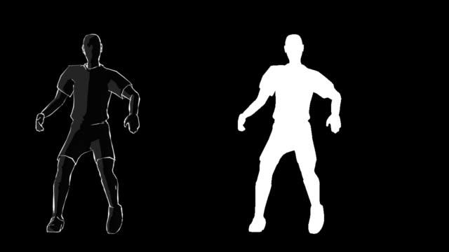 vídeos de stock, filmes e b-roll de canal alfa jogador de futebol - competition round