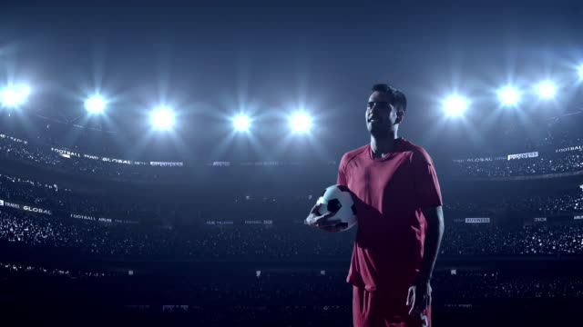 Soccer player  in stadium