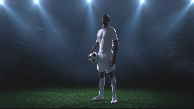 soccer player  in stadium - football player stock videos and b-roll footage