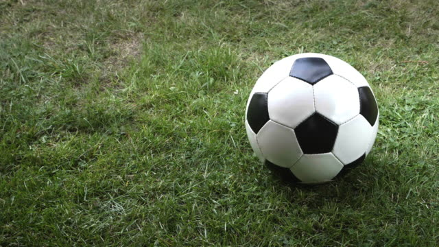 soccer player kicking a football. - land stock videos & royalty-free footage