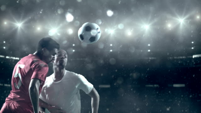 soccer player kicking ball in stadium - atmosphere filter stock videos & royalty-free footage
