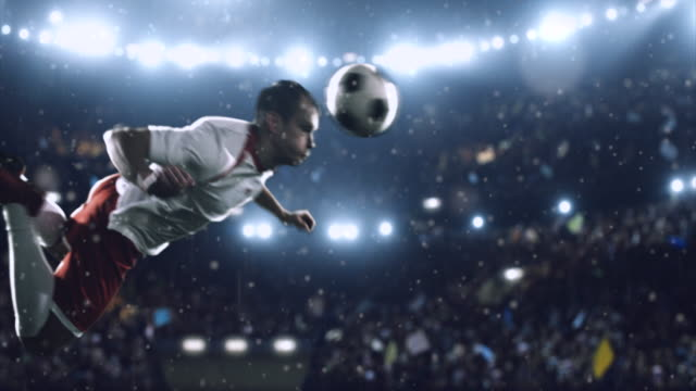 soccer player makes a dramatic play - football strip stock videos & royalty-free footage