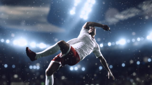 soccer player makes a dramatic play - rivalry stock videos & royalty-free footage