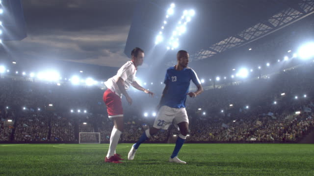 soccer player makes a dramatic play - hand fan stock videos and b-roll footage