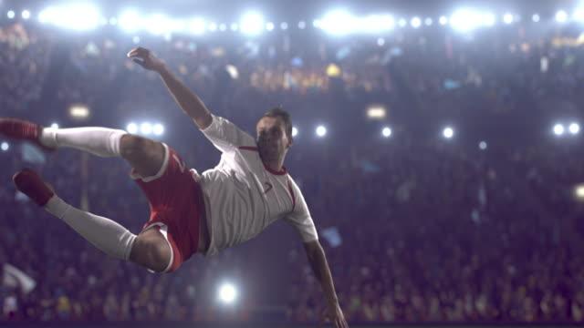 Fußball-Spieler einen Kick