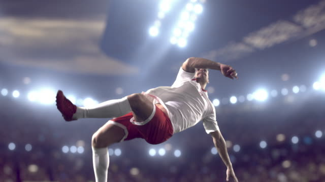 soccer player makes a kick - soccer sport stock videos & royalty-free footage