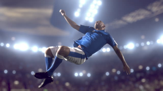 soccer player makes a kick - kicking stock videos & royalty-free footage