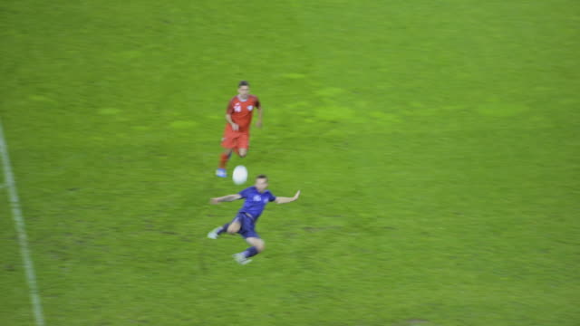 soccer player scoring a scissor kick goal - tor konstruktion stock-videos und b-roll-filmmaterial