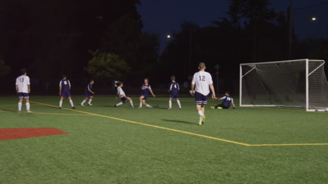 soccer player scoring goal - sports round stock videos & royalty-free footage