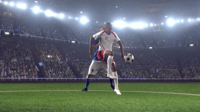 Fußball Spieler im Stadion