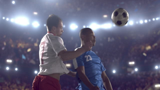 soccer players on stadium - football pitch stock videos & royalty-free footage
