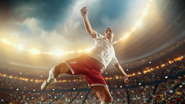 soccer: professional player makes a strong kick - international team soccer stock videos & royalty-free footage