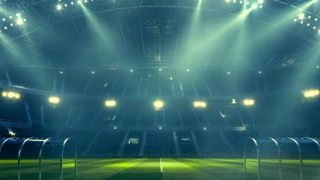 Soccer stadium and lights