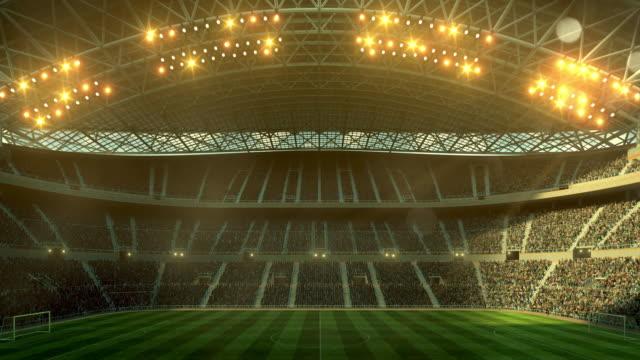 Soccer stadium full of spectators