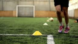 Soccer team on practice