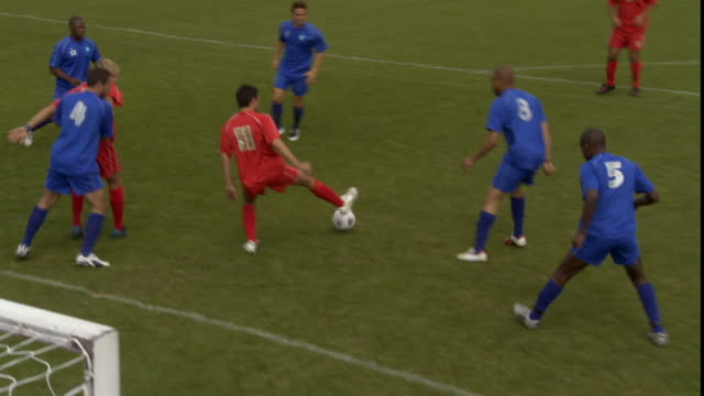 ha ws soccer team scoring goal/ sheffield, england - defender soccer player stock videos and b-roll footage