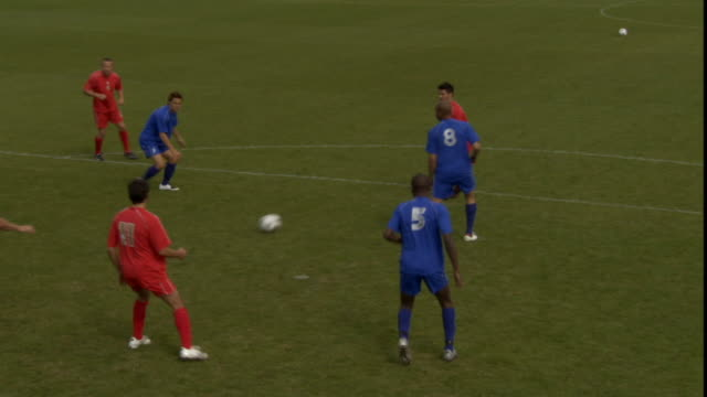 HA WS Soccer team scoring goal/ Sheffield, England
