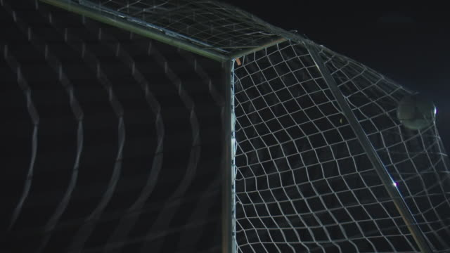 Soccer training on playing field at night