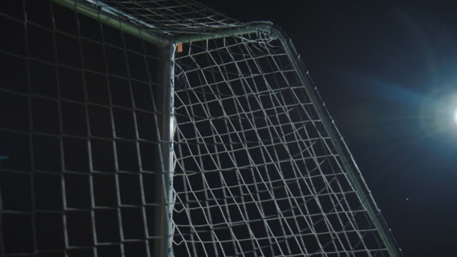 soccer training on playing field at night - goalkeeper stock videos & royalty-free footage