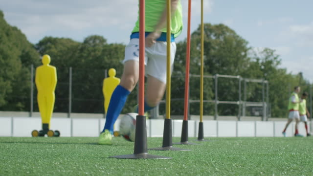 soccer training on playing field - coach stock videos & royalty-free footage