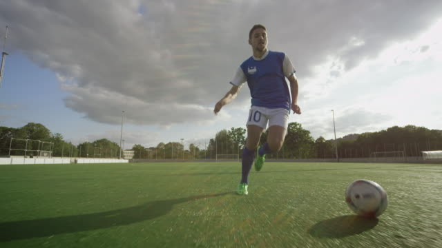 soccer training on playing field - kicking stock videos & royalty-free footage