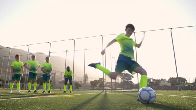 soccer training sesion shooting at goal - shooting at goal stock videos & royalty-free footage