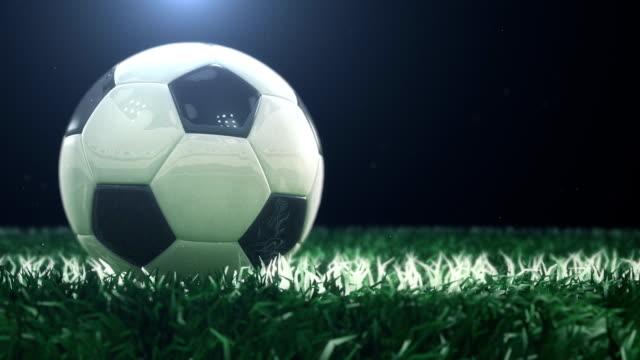 vídeos de stock e filmes b-roll de de futebol - foco diferencial