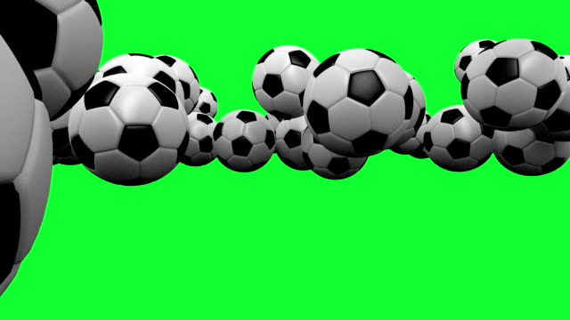 HD : Soccer-ball Animation with Green Screen.