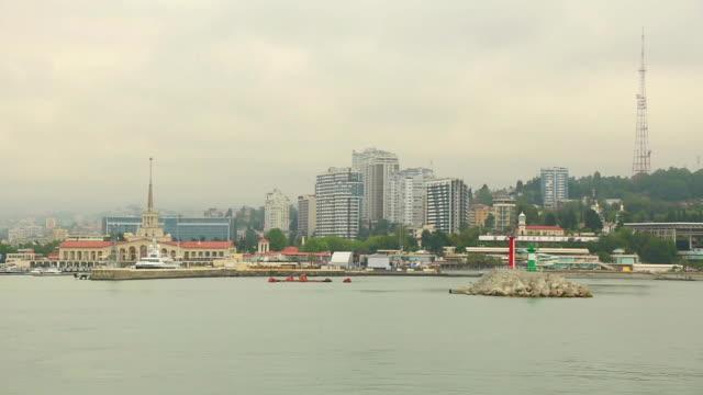 vídeos y material grabado en eventos de stock de sochi vista desde el mar - sochi