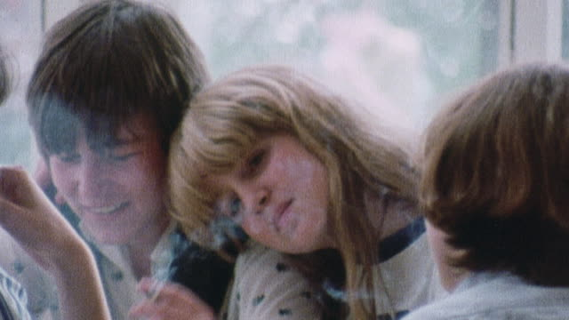 1978 montage social aspects of smoking / united kingdom - 1978 stock videos and b-roll footage