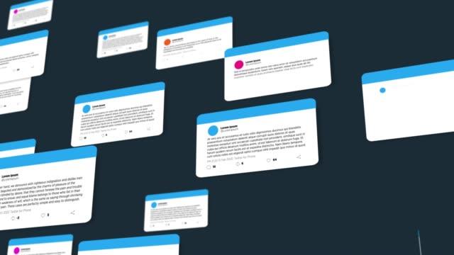 4kソーシャルセディアコメント - オンラインメッセージ点の映像素材/bロール