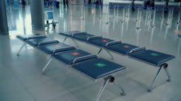social distancing in airport