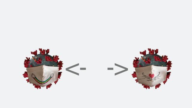 social distancing, mask and  coronavirus animation concept - keyable stock videos & royalty-free footage