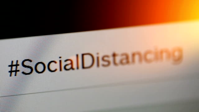 social distancing - online messaging stock videos & royalty-free footage