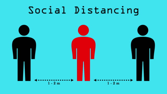 social distancing - biomedical animation stock videos & royalty-free footage