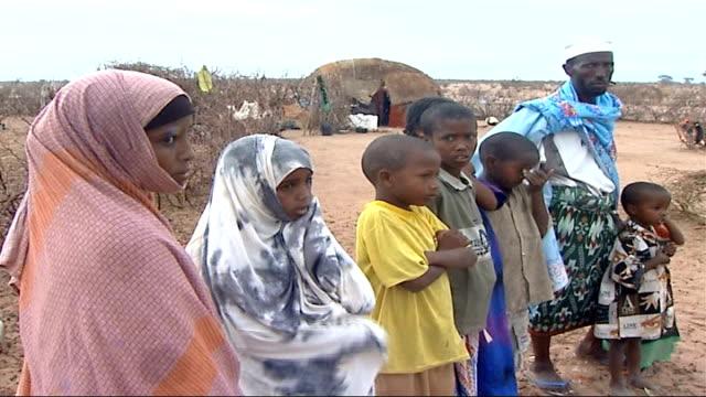 Social impact of Somalian refugees fleeing to Kenya More of the same / Close shots of donkey / Children herding goats