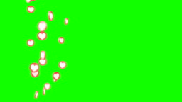 Social love 3d heart icon in animation loop