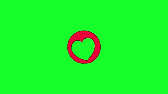 social love heart icon animation - vignette stock videos & royalty-free footage