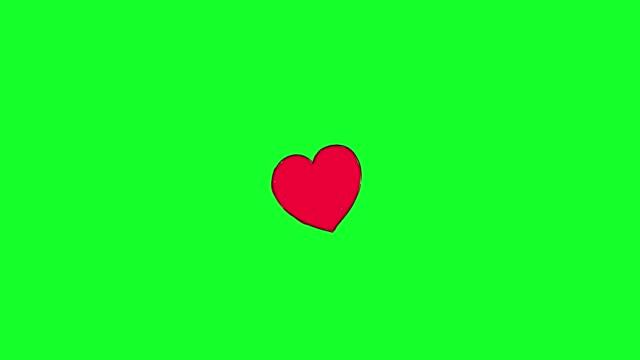 vídeos de stock, filmes e b-roll de animação de ícone do coração do amor social - comédia de sketches