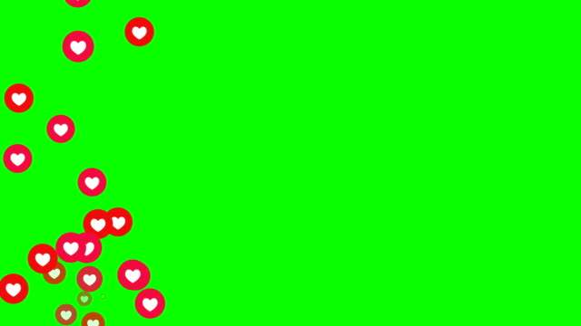 social love heart icon animation with optional luma matte. alpha luma matte included. loopable chroma key.4k video. - two dimensional shape stock videos & royalty-free footage