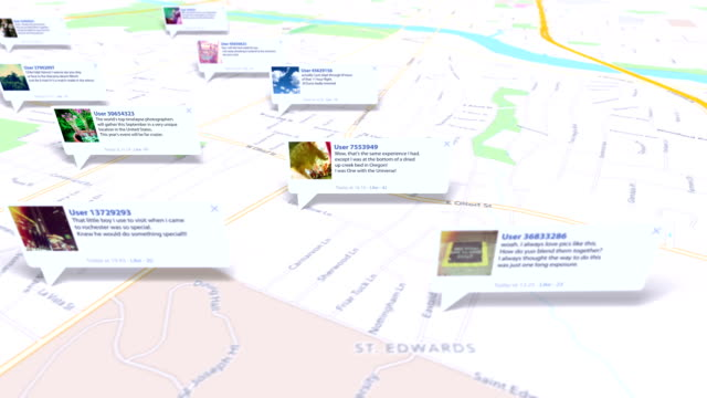 social map - online messaging stock videos and b-roll footage