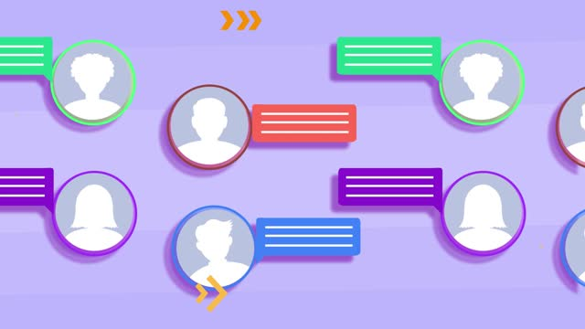 4k social media and chat background - social media icon stock videos & royalty-free footage