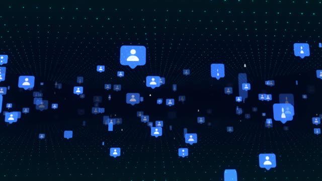 vídeos de stock e filmes b-roll de 4k social media and network - discurso