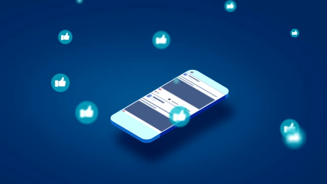 4k-social media-apps auf einem smartphone - post stock-videos und b-roll-filmmaterial