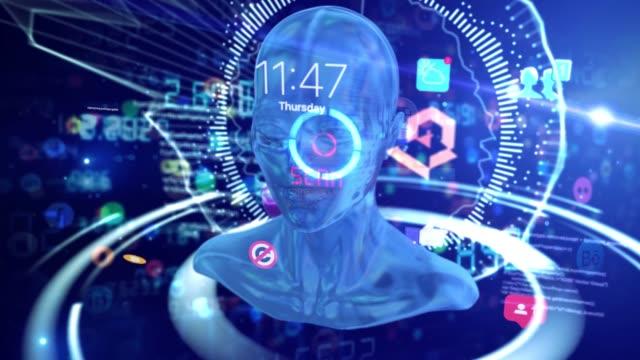 ソーシャルメディア人工知能 - バイラルビデオ点の映像素材/bロール