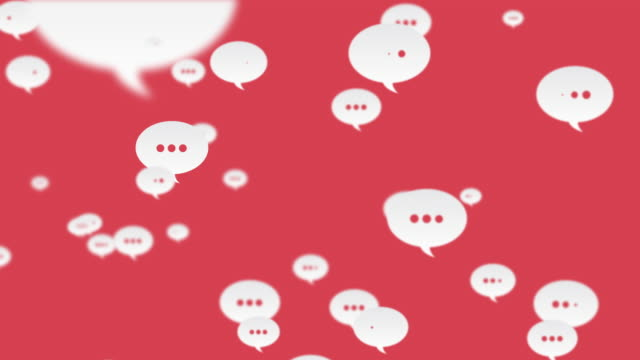 social media comments flying to left looped red background - suggestion box stock videos & royalty-free footage
