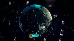 Social media communication Hitech Globe