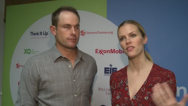 social media edit andy roddick and brooklyn decker at think it up live austin at david crockett high school on march 10 2016 in austin texas - andy roddick stock videos and b-roll footage