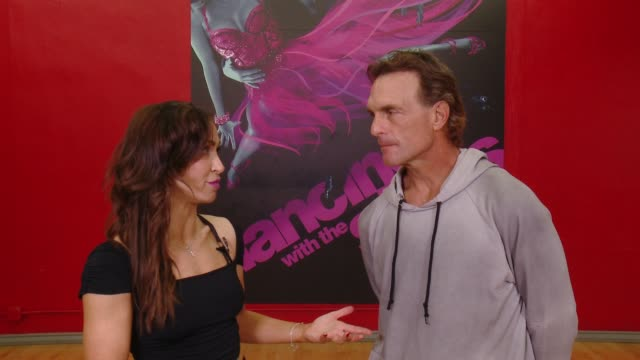 social media edit behind the scenes of dancing with the stars with karina smirnoff and doug flutie on march 24 2016 in los angeles california - karina smirnoff stock videos & royalty-free footage