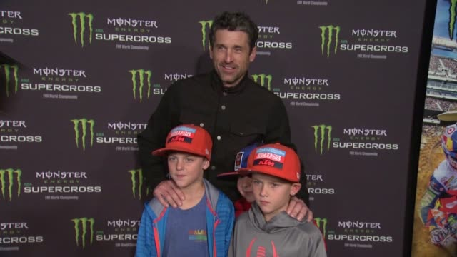 social media edit - monster energy supercross celebrity night at angel stadium of anaheim on january 23, 2016 in anaheim, california. - angel stadium stock videos & royalty-free footage
